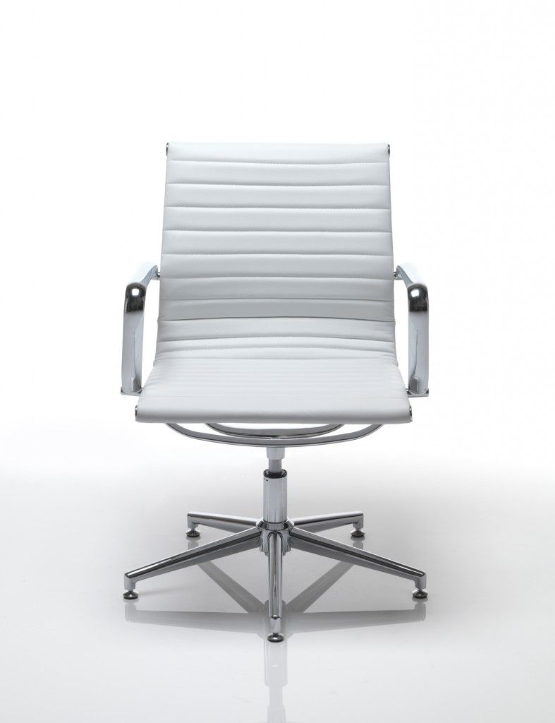 Aria AM3 White Designer Leather Swivel Chair