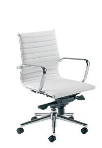 Aria AM2 White Designer Leather Office Chair