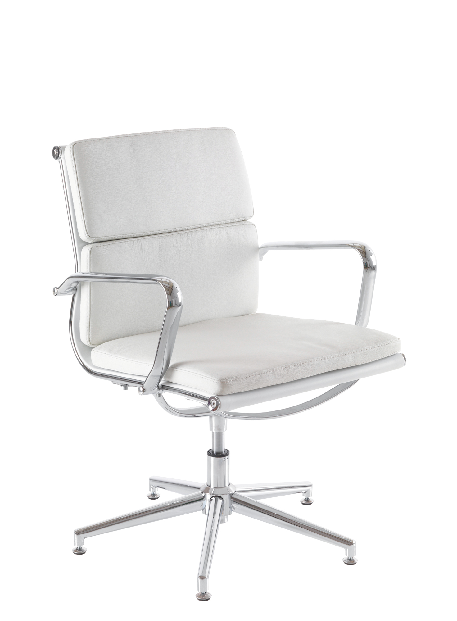 Aria CM3 White Designer Leather Swivel Chair