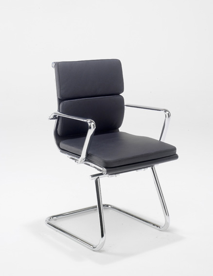 Aria CMCA Black Leather Office Chair