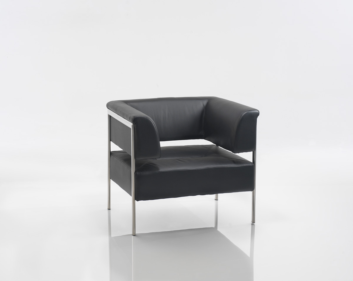 9101 Designer Leather Reception Chair