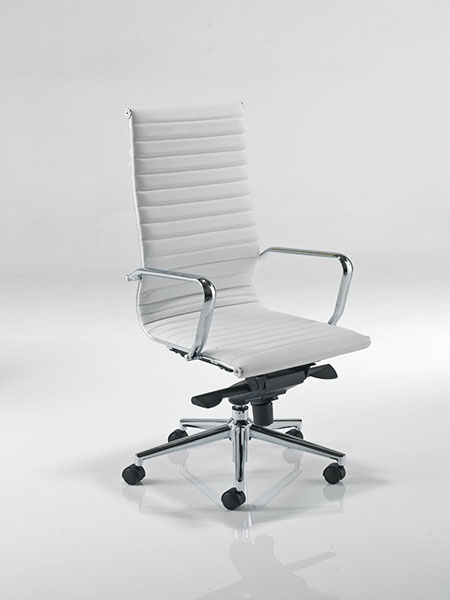 Aria AH1 White Designer Leather Office Chair