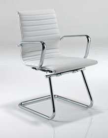 Aria AMCA White Designer Leather Office Chair