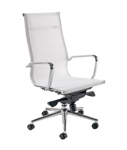 Breeze BH1 White Designer Mesh Chair