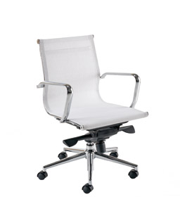 Breeze BM2 White Designer Mesh Chair