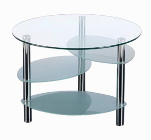 GL10666 GLASS COFFEE TABLE