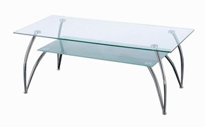 GL11101 GLASS COFFEE TABLE