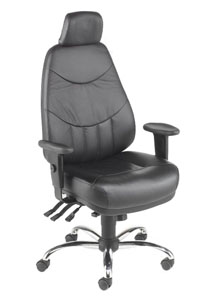 Mercury MH1 Executive Leather Office Chair - Click Image to Close